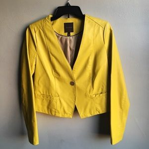 The Limited Neon Yellow Faux Leather Jacket